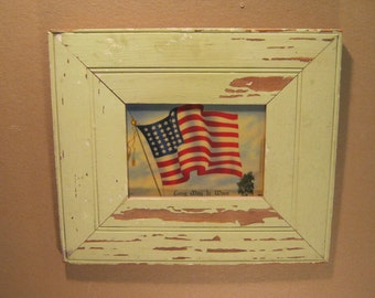 SHABBY ARCHITECTURAL Chic Salvaged Recycled Wood Photo Picture Frame 5x7 S-1312-13