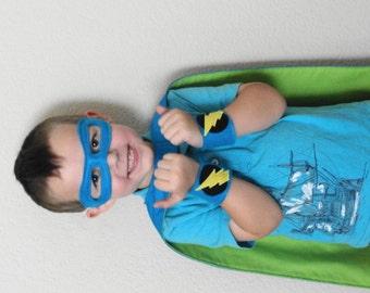 Boys Personalized Super Hero Cape Set