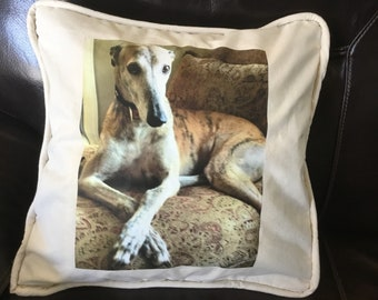 Greyhound Personalized Pet Pillows