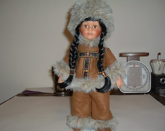 Eskimo doll by Emerald doll collection