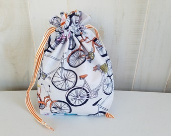 Sock Project Bag: Bicycles