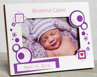 Personalized Baby Picture Frame, Baby Girl  Picture Frame, New Baby Girl Frame, Baby Girl Frame, Baby Girl Birth Frame,  Baby Frame Girl