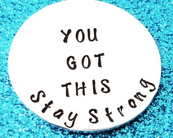 Sobriety Gift - You Got This, Sobriety Keychain, Addiction Recovery, Pocket token, Encouragement Gift, Stay Strong, Drug Addiction