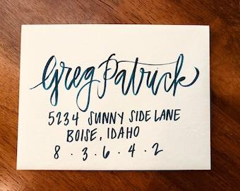 Custom Hand Lettered Envelopes