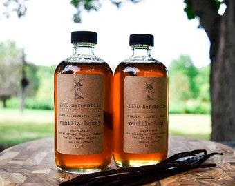 Organic Madagascar Vanilla infused raw widlflower honey