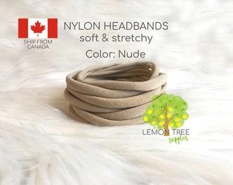 Nude Nylon headbands, Wholesale nylon headbands, Bulk nylon headbands, baby headbands, headbands wholesale, nude headband bulk, DIY headband
