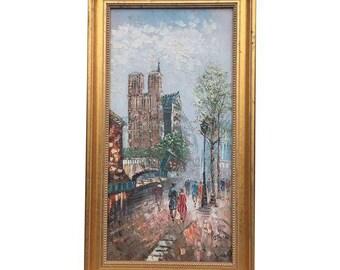Notre Dame Paris, France Oil Painting