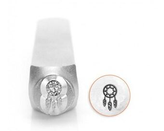 6mm Dream Catcher Metal Stamp, ImpressArt Southwest Stamp, Impress Art Metal Design Stamps DIY Jewelry Making, Metal Stamping Tools Supplies