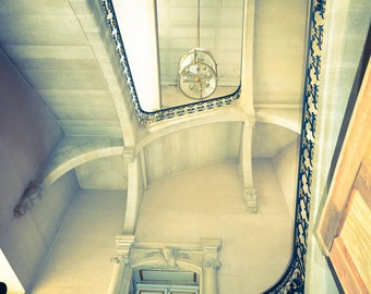 """Paris Photography - staircase versailles palace paris photography black and white Paris photo travel photography 8x10 """"Majesty"""""""