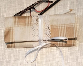 SALE - REVERSIBLE Silk Cosmetics, Art Supply, Glasses