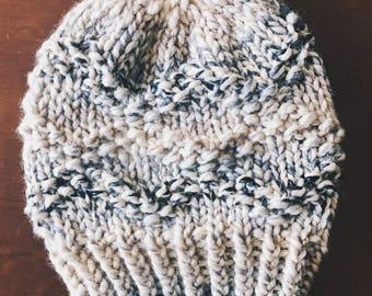 Chunky Knit Beanie, Slouchy Knit Hat | ETTA | Knit Hat