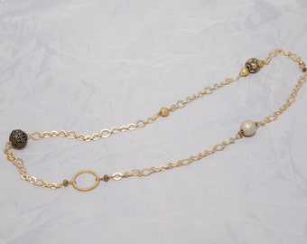 Long Gold Toned Necklace