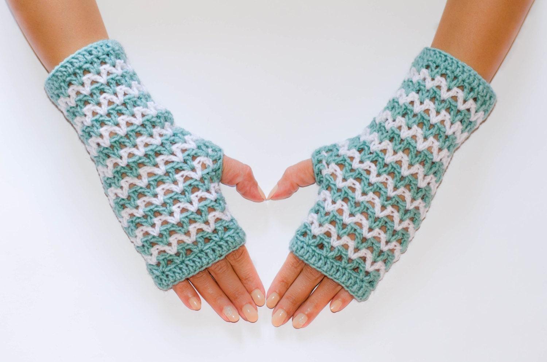 Famoso Los Patrones De Crochet Libre Fácil Para Los Guantes Sin ...