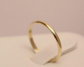 18k Gold Half Round Ring, 18k Yellow Gold Ring, 18k gold ring, 18k wedding ring, 18k wedding band, 18k band ring, 18k thumb ring