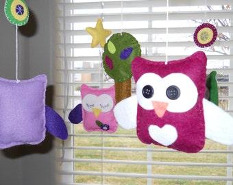Baby Mobile- Baby Crib Mobile- Owl Mobile- owls- Tree Crib Mobile