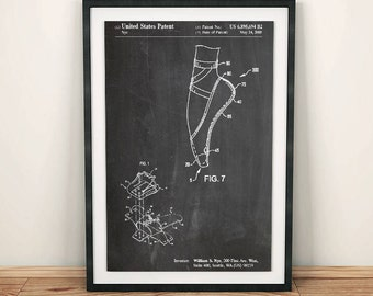Ballet Slipper Dancing Sports Patent Art Poster