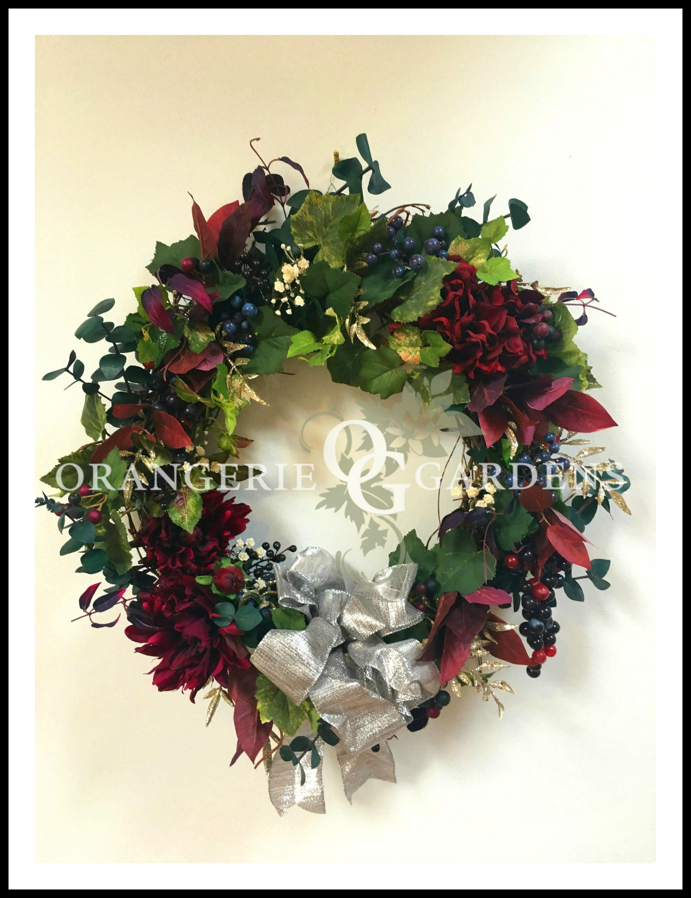 Fall Wreath For Front Door, Grape Wreath, Wreaths, Hydrangea Wreaths, Fall  Wreaths, Hydrangea Wreath For Door, Door Wreath, Hydrangea Wreath