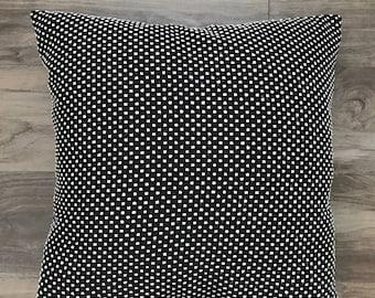 """16"""" Woven Small Dot Pillow"""