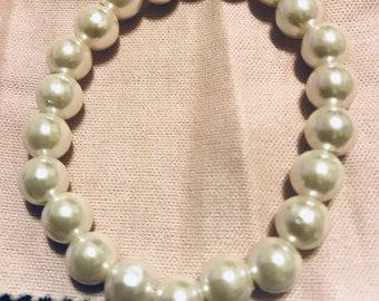 Pearl Bracelet /Flower  Girl /Wedding Party /Bridal/Mother of Bride