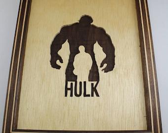 Hulk, Scrollsaw Art, Avengers, Avengers Scroll Saw, Marvel Comics, Marvel Avengers, Framed Art, Super Hero Character, Gift For Him