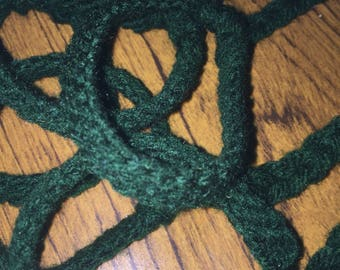 Dark Green Yarn Bracelet