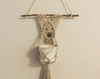 Macrame wall hanging pot holder