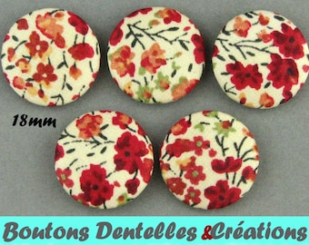 Covered buttons (18 44) - B - 18 mm Phoebe - Liberty