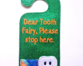 Tooth Fairy Door hanger - GREEN