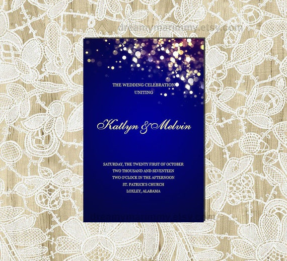 printable navy wedding program template editable. Black Bedroom Furniture Sets. Home Design Ideas