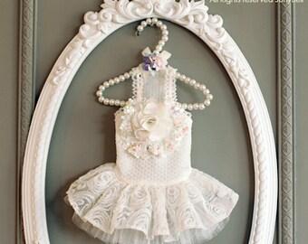 Bride of May - Designer Handmade white dress for Pets / Free Shipping/Wedding/Bride dress