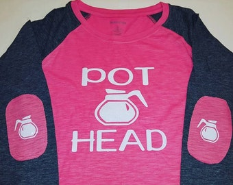 Elbow Patch--Coffee Lover--Pot Head Shirt