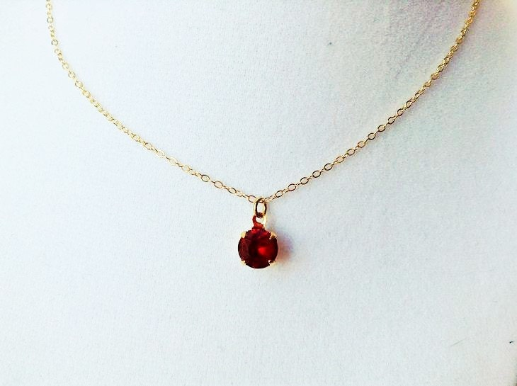 Ruby necklace ruby pendant necklace ruby jewelry tiny ampliar aloadofball Image collections