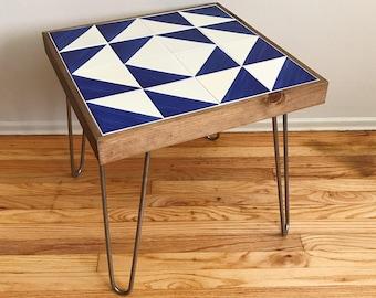 Boho Modern Talavera End Table