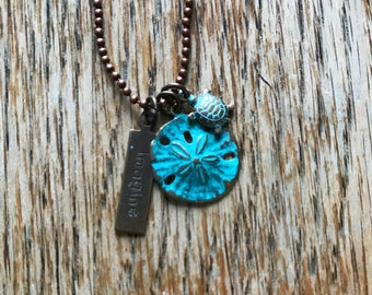 Imagine Turtle and Sand Dollar Necklace