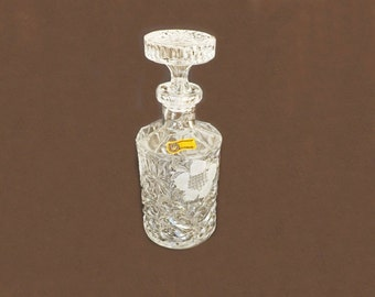 Vintage Liquor Decanter, Lead Crystal Decanter, Hand Cut Crystal, Made in Italy, Barware, Serving Decanter, Crystal Dishes, Formal Dining