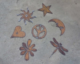 Metal Rustic Symbols / Letters - ORDER as many letters as you need - 2 - 5 inch