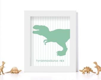 Dinosaur Art Digital Download Dinosaur Print Kids Room Art Mint Decor Mint Wall Art Children's Room Art Children's Room Ideas Kids Decor
