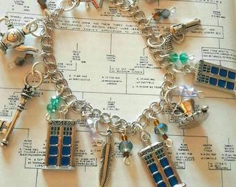 Tardis whovian charm bracelet