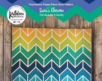 Sara's Chevron Quilt Pattern - Foundation Piecing Pattern