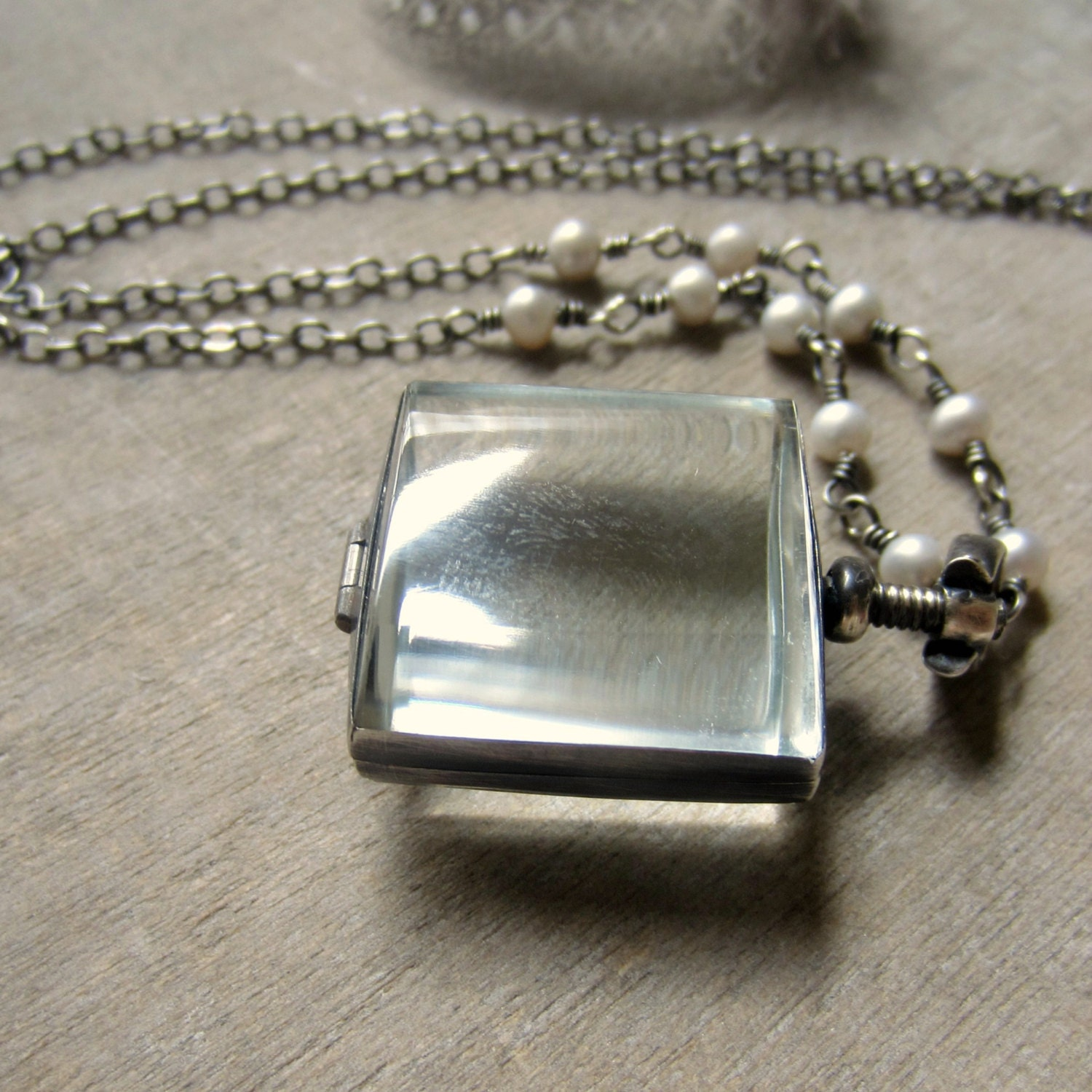 stainless steel with rhinestones inches square lockets memory pin x silver locket