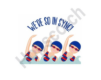 Synchronized Swimming - Machine Embroidery Design, Swimmers, In Sync