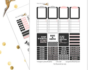 Chic Set - Planner Printable Stickers