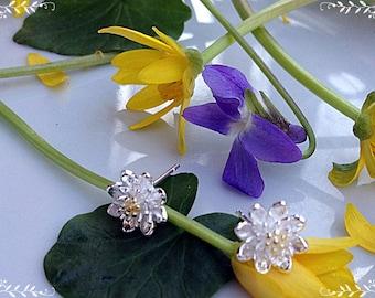 Earrings Flower, Gentle earrings, Silver earrings, 925 earrings, Flower earrings, Gift girlfriend, Bright earrings, Gift for daughter,
