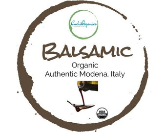 ORGANIC BALSAMIC VINEGAR | 13 0z 375 ml | authentic balsamic vinegar Modena, Italy | cask aged balsamic vinegar | glass bottle natural cork