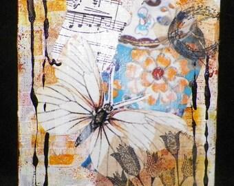 Butterfly Mixed Media Original Art