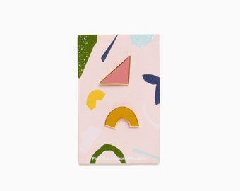 Plain Pins x Alison Willoughby - Rose Pink & Bright Mustard
