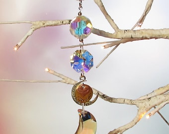 Sun Catcher, Crystal Moon, I Love You To The Moon And Back, Mother's Day Gift 1S-66