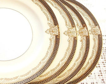 Noritake Valiere Bread and Butter Plates Set of 4, Tea Party, Wedding, Art Deco, Vintage Side Plates, Antique Noritake Small Plates