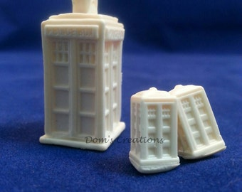 Dr. Who inspired 3D Tardis Police Box Pendant Silicone Mold