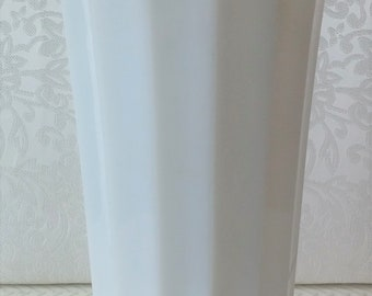 Vintage Milk Glass Vase, Vintage White Glass Vase, Vintage Vase, Milk Glass Vase, Vintage Decor, Vintage Wedding Vase